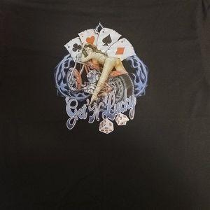 Gildan Shirts - Mens xl black biker theme motorcycle Harley pinup